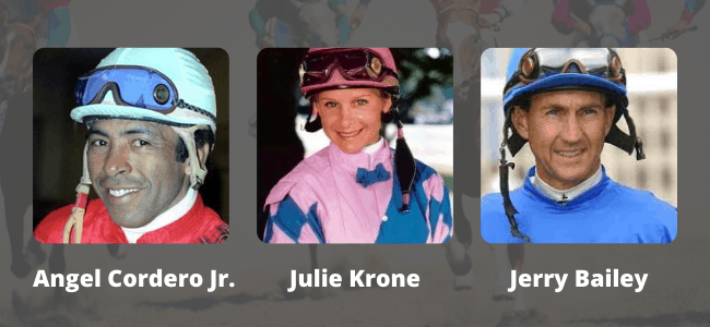 Of all the jockeys that have raced at Gulfstream race track, there are three of the most famous.